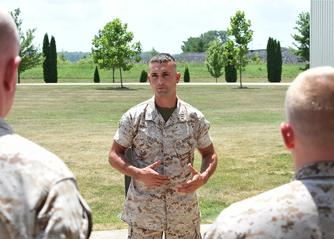 Grissom's Marine unit changes command