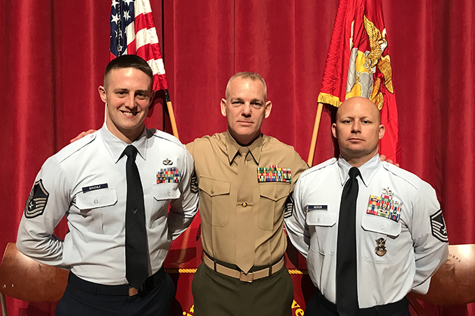 Grissom firefighter trains leadership skills with Marine Corps