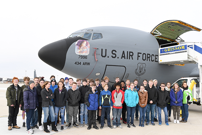 Northwestern Middle School students embrace the 434th ARW mission