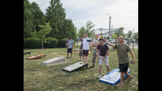 Medical dominates in Grissom's first annual corn-hole tournament.