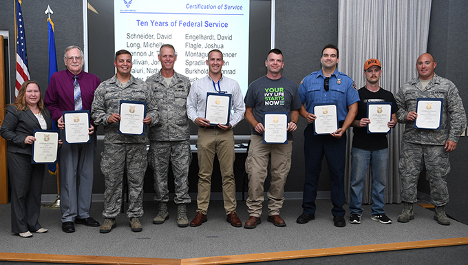 Grissom civilians receive award, recognition for service