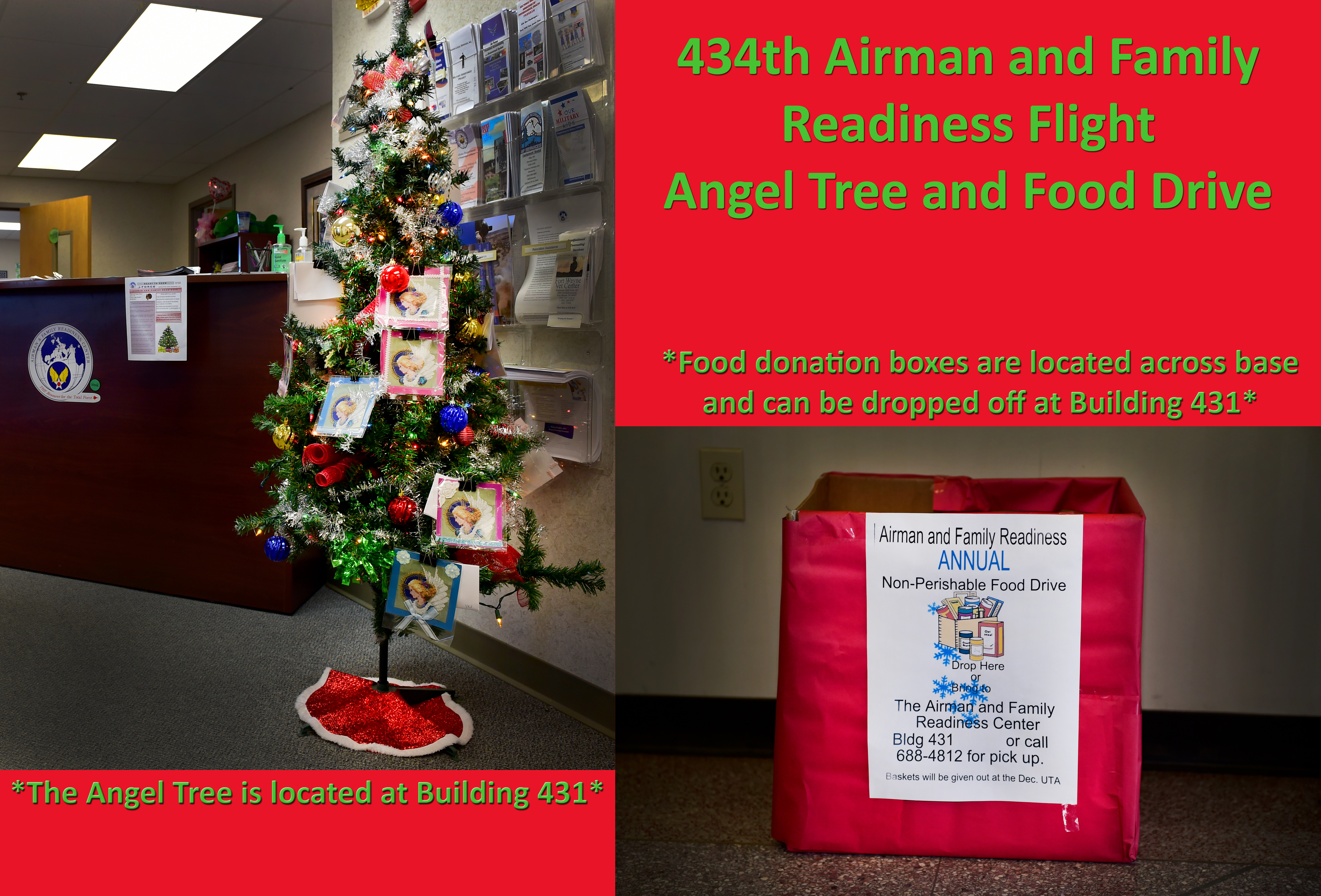 Team Grissom collects gifts, food to help Airmen during holiday season