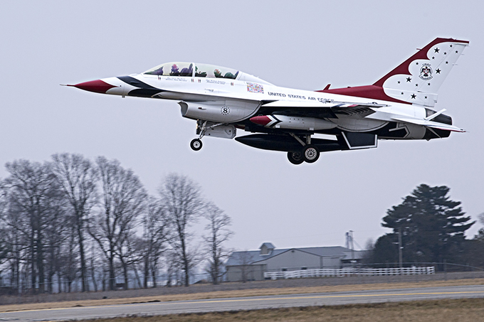 Attention to detail: Thunderbird visits Grissom ahead of airshow