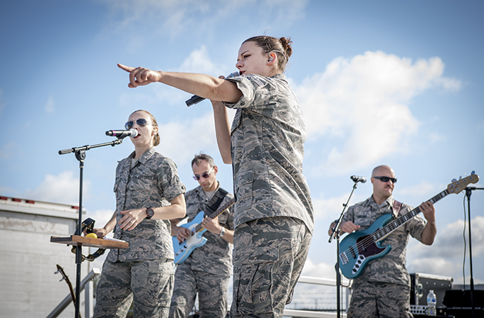 Air Force Band of Mid-America performs at Grissom
