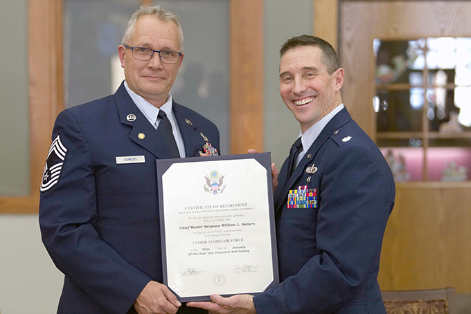 FSS Chief retires after 33 years of service