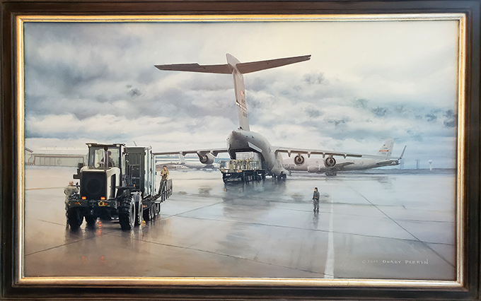 Artwork depicting Grissom and its Airman unveiled