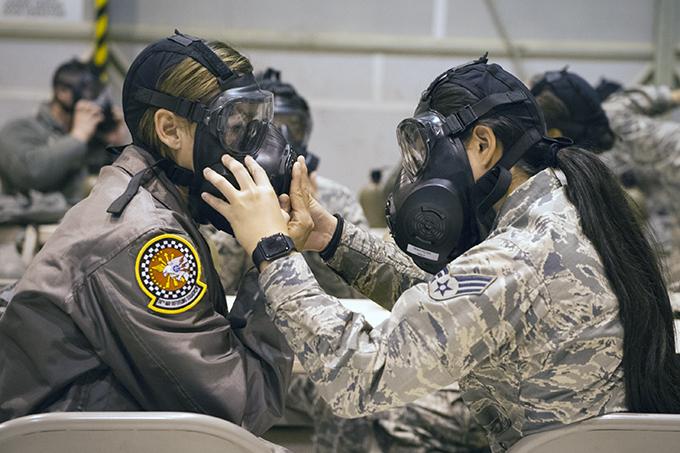 Grissom moves hundreds of Airmen through CBRN training