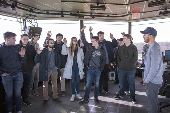 Team Grissom hosts Purdue Aviation students